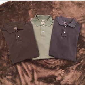 J. Crew  Lot of 3 Polo Shirts Slim Size Medium